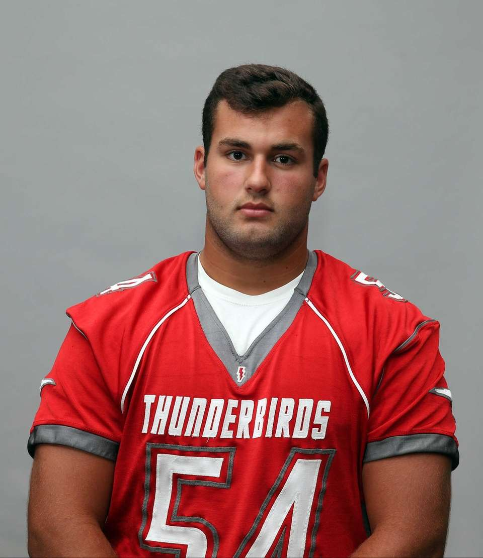 LUCIANO DeRENZO Connetquot, OL/DL, Sr. Strong lineman, three-year