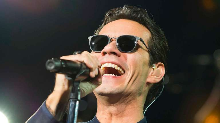 Marc Anthony performs at TD Garden in Boston