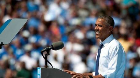 President Barack Obama speaks during a campaign event