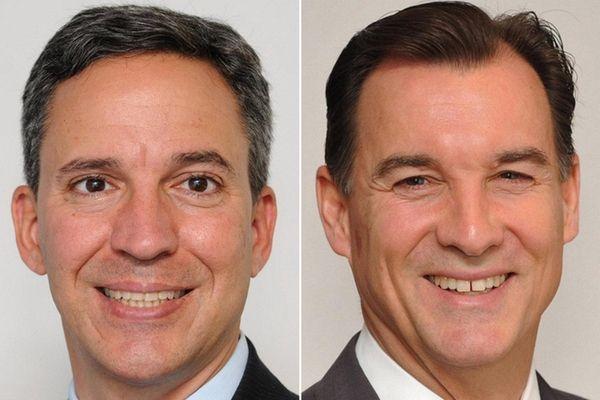 Republican State Senator Jack Martins, left, and Democrat