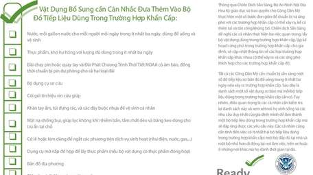 Korean and Vietnamese translations of disaster preparation advisories