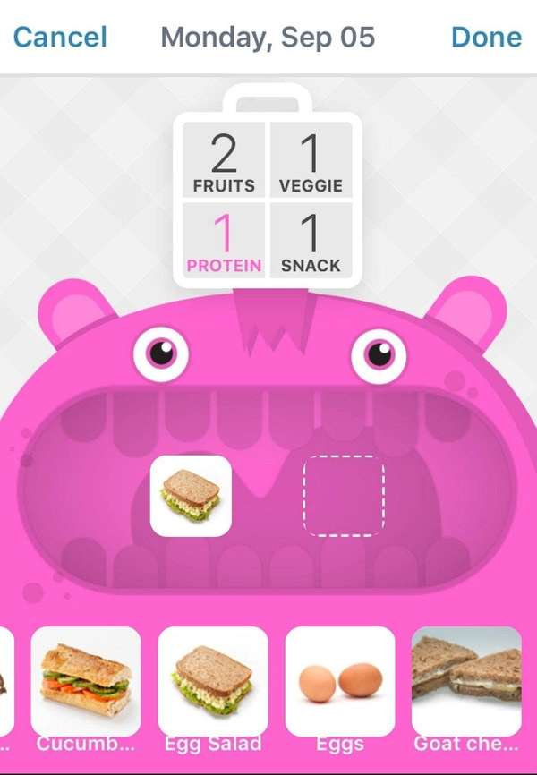 LaLa Lunchbox is a free app that helps