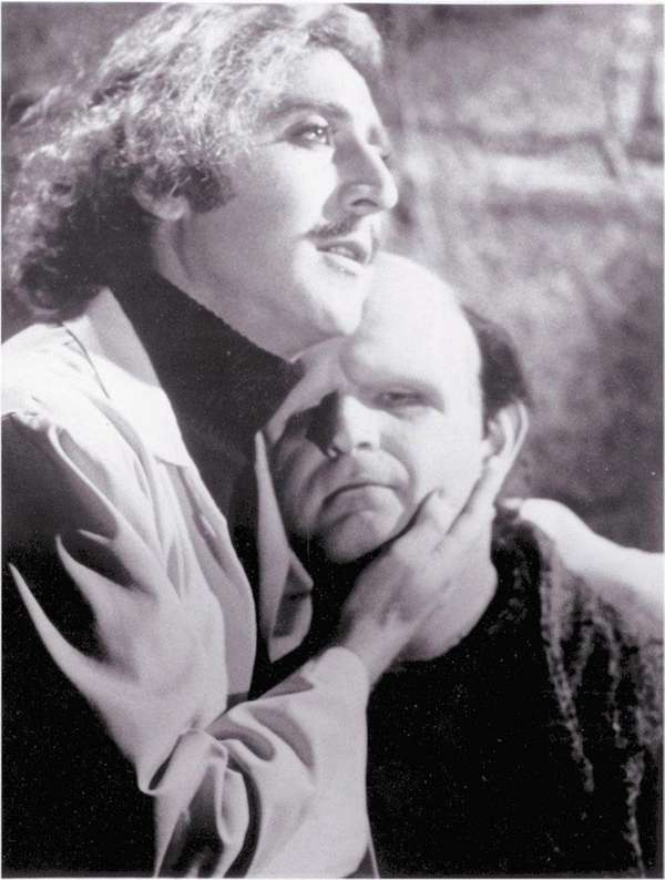 Gene Wilder, left, as the doctor and Peter
