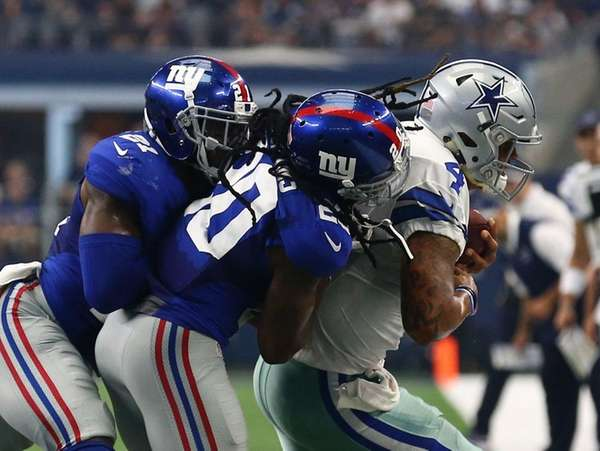 New York Giants free safety Landon Collins (21)