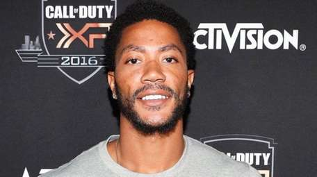 Derrick Rose attends The Ultimate Fan Experience, Call