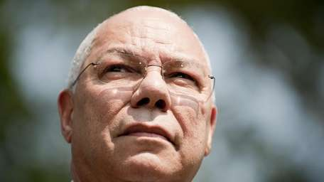 Colin Powell, seen on July 18, 2011, will
