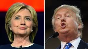 Democratic presidential nominee Hillary Clinton and Republican presidential