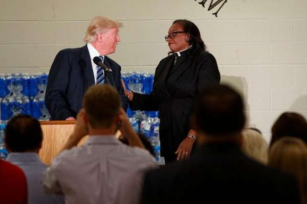 The Rev. Faith Green Timmons interrupts Republican presidential