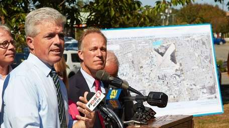 At a press conference in Sayville on Wednesday,