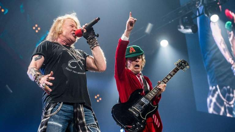 Axl Rose, left, and Angus Young of AC/DC