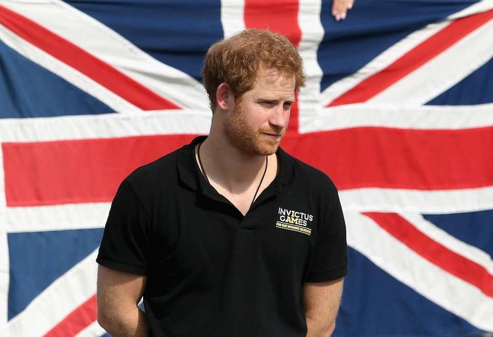 Prince Harry attends wheelchair tennis on the final