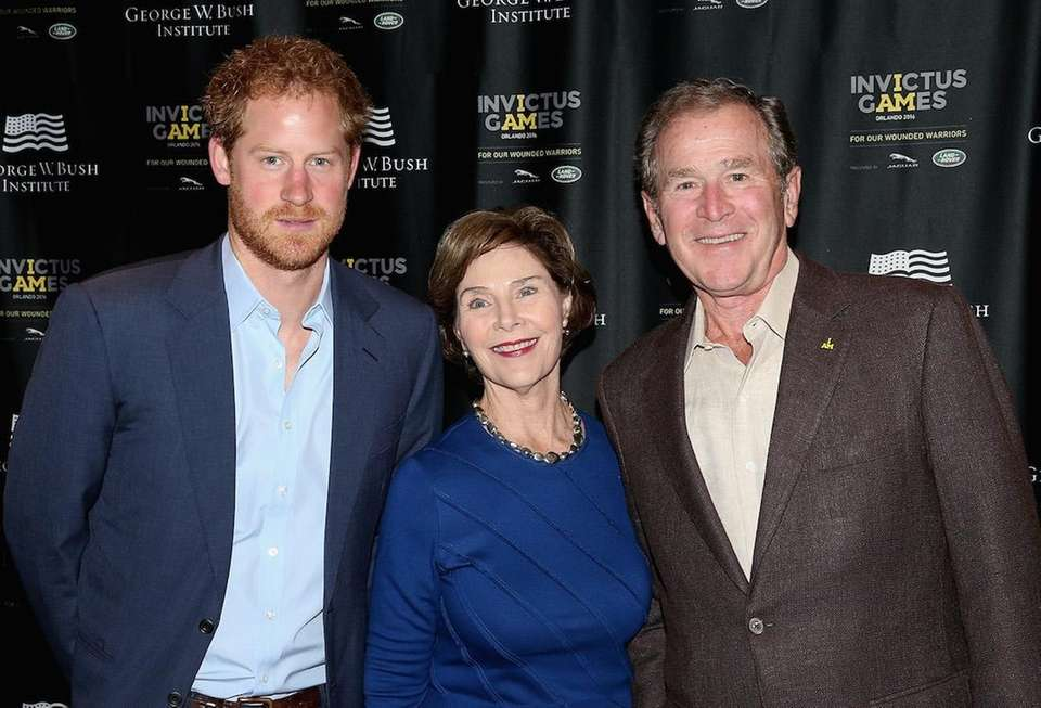 Prince Harry meets former President George W. Bush
