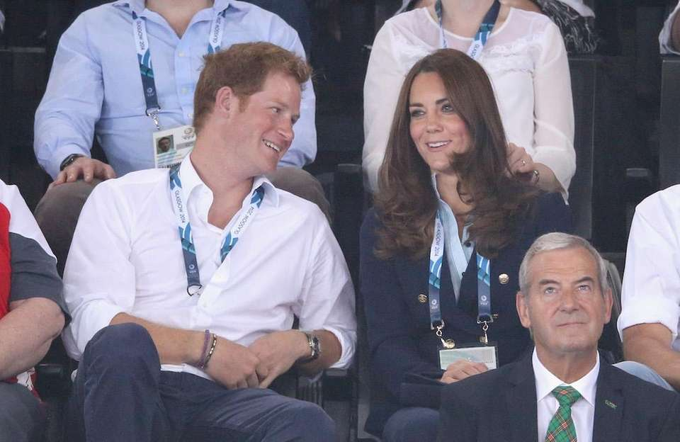 Prince Harry and Catherine, Duchess of Cambridge, watch