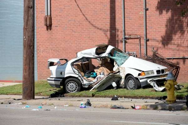 A BMW driver was critically injured in an