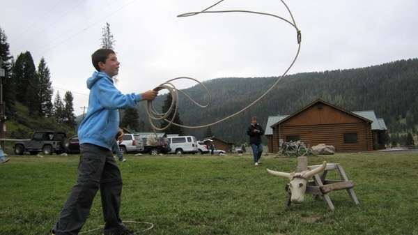 A traveler gives roping a shot at 320