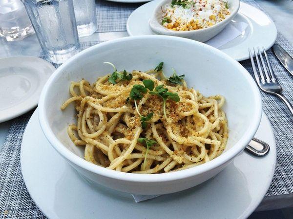 Spaghetti cacio e pepe is one of the