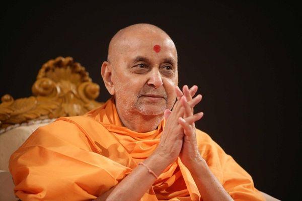 The late Pramukh Swami Maharaj, who was spiritual