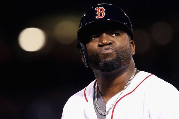David Ortiz of the Boston Red Sox looks