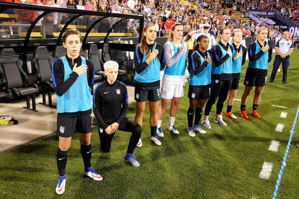 Megan Rapinoe #15 of the U.S. women's national