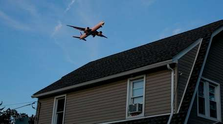 Low flying planes fly over the Rosedale neighborhood