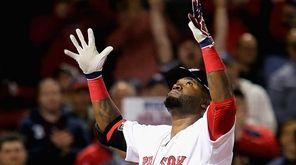 David Ortiz of the Boston Red Sox celebrates