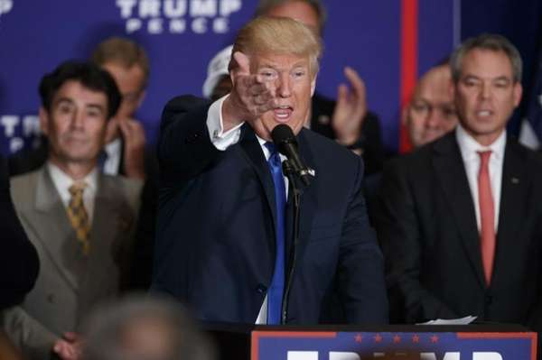 Republican presidential nominee Donald Trump says during a