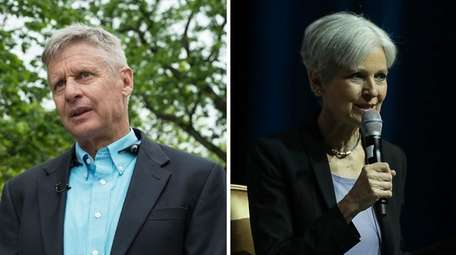 Third-party candidates Gary Johnson and Jill Stein have