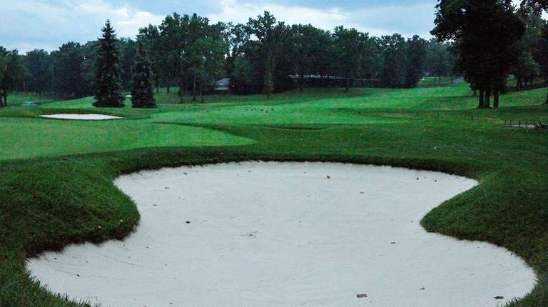 A sand trap on the recently renovated North