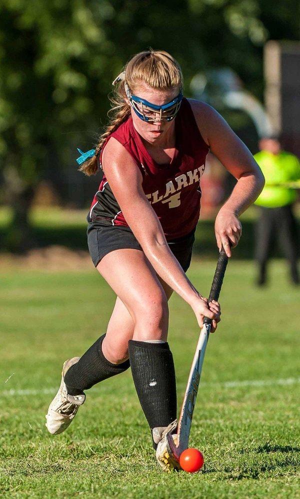 Clarke's Bailey McNamara during her team's field hockey