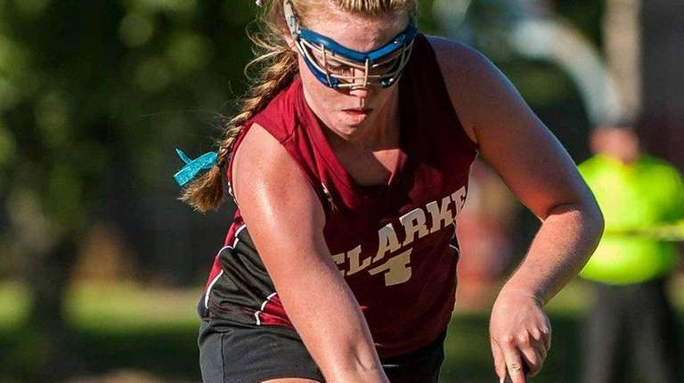 Clarke's Bailey McNamara during her team's field hockey