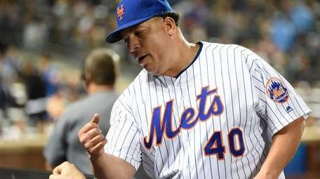 New York Mets starting pitcher Bartolo Colon is