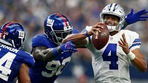 Dallas Cowboys quarterback Dak Prescott had a rough