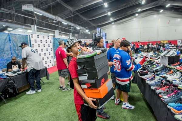 A sneaker collector carried an array of Nike