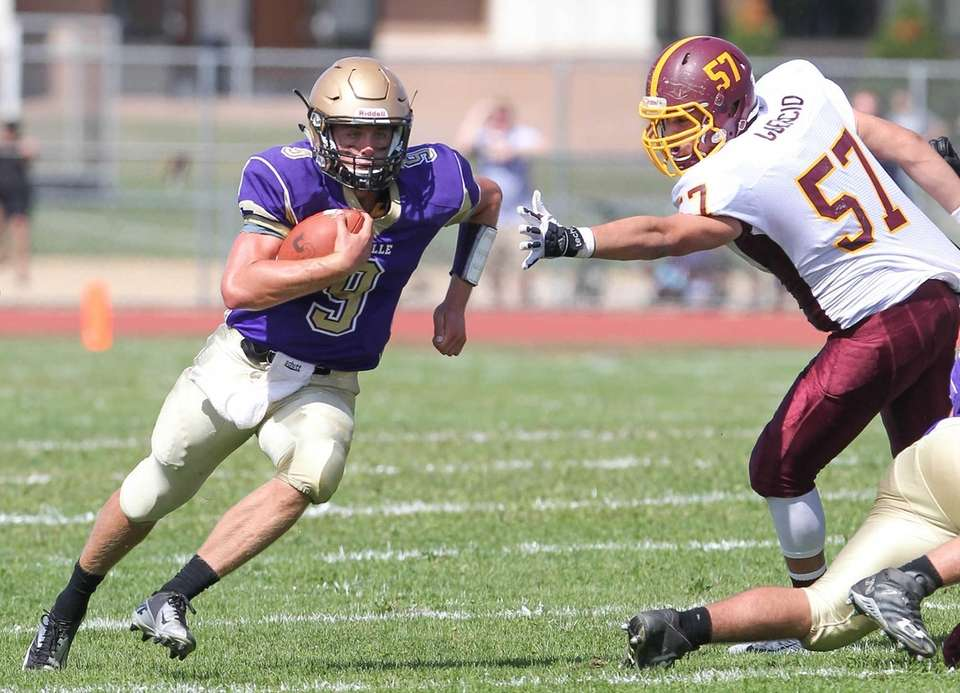 Sayville's Jack Coan finds a hole and gets