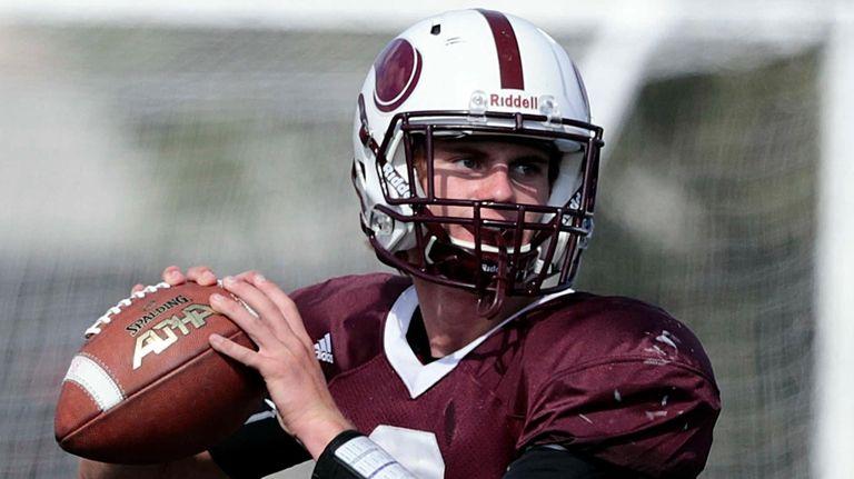 Bay Shore quarterback Matt Ilchuk throws from the