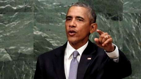 President Barack Obama addresses the 70th session of