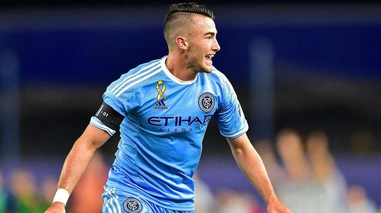New York City FC midfielder Jack Harrison (11)