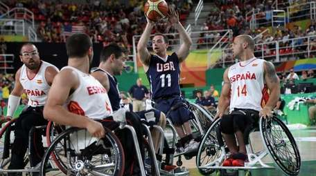 Steve Serio (11) of the USA in action