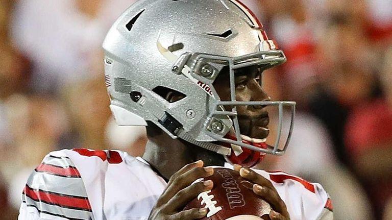 Ohio State's J.T. Barrett looks to pass against
