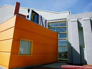 The exterior of the Long Island Children's Museum,