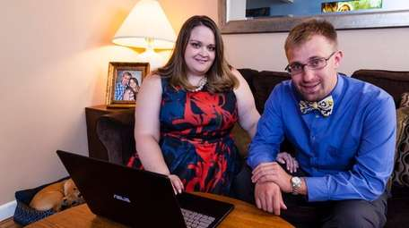Jennifer Millard, 30, program manager, and her husband,