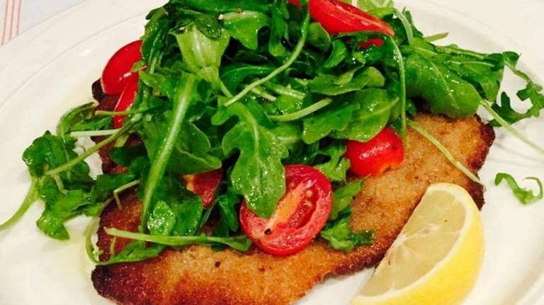 Cotoletta Valdostana, veal cutlet stuffed with ham and