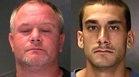 Michael Burden, 38, of Holbrook, left, and John