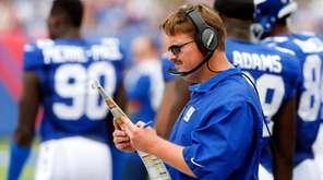 Head coach Ben McAdoo of the New York