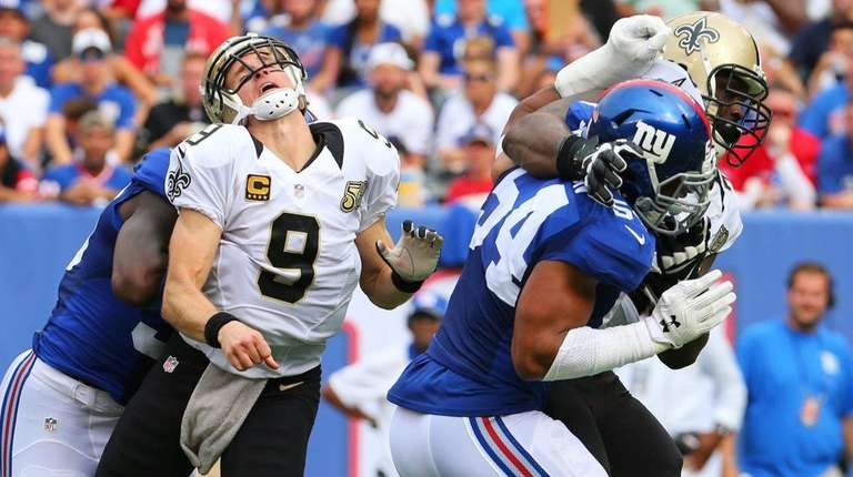 Drew Brees of the New Orleans Saints is