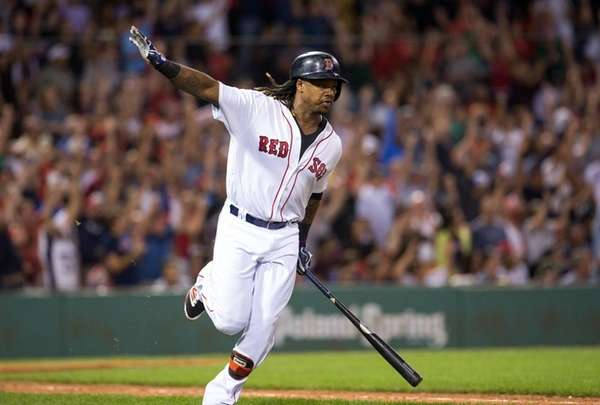 Hanley Ramirez starts his trip around the bases