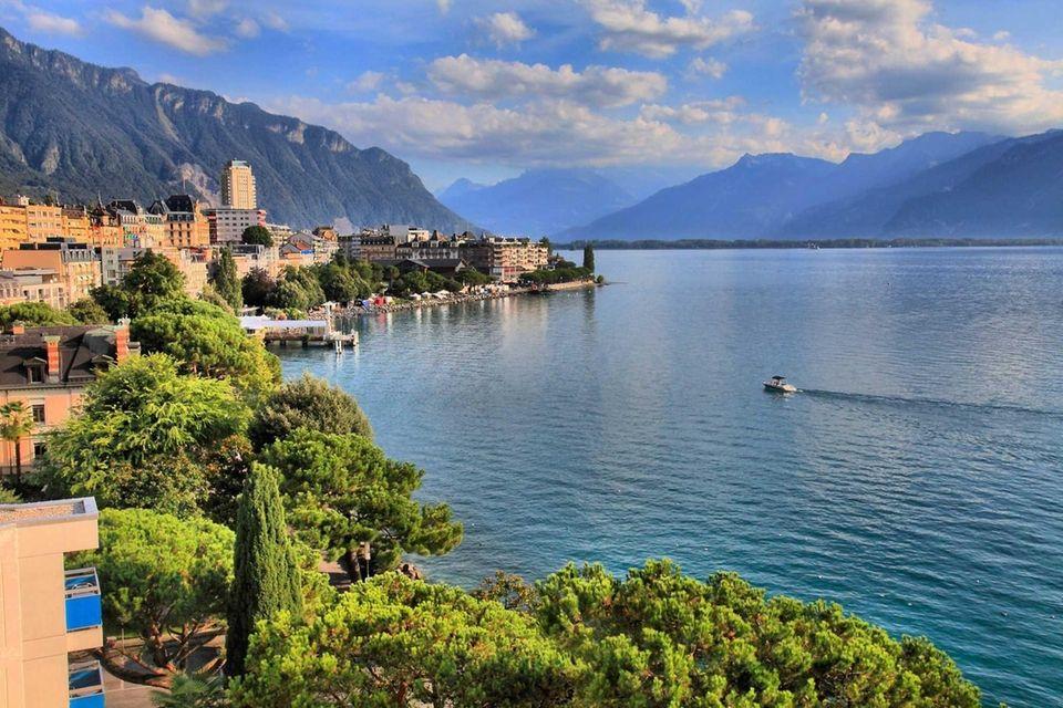 Lake Geneva, Montreux, Switzerland - Sept. 2016