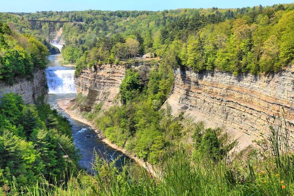 Genesee River, looking south, Letchworth State Park, NY