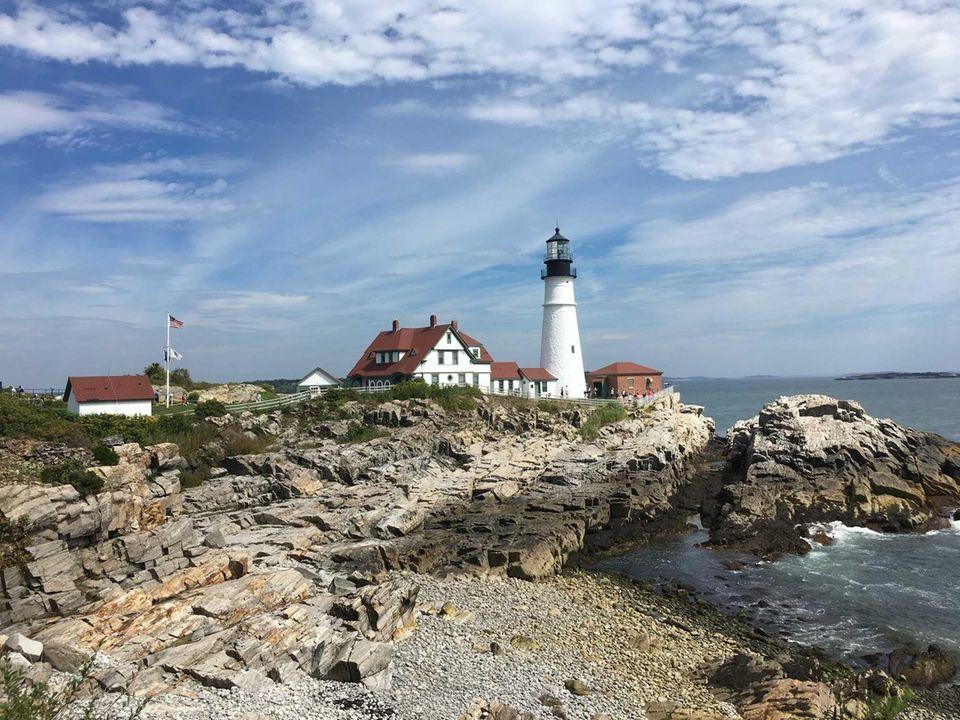 Visiting the Portland Head Light in Portland, Maine