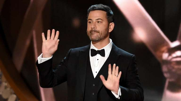 Host Jimmy Kimmel speaks onstage during the 68th